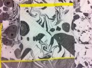 Black, White, and Yellow Study. Detail.