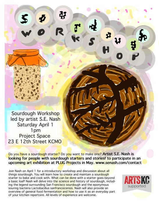 sourdough workshop flyer